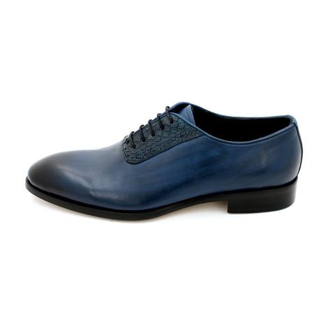 Snake Skin Dress Shoes // Dark Blue (Euro: 39)