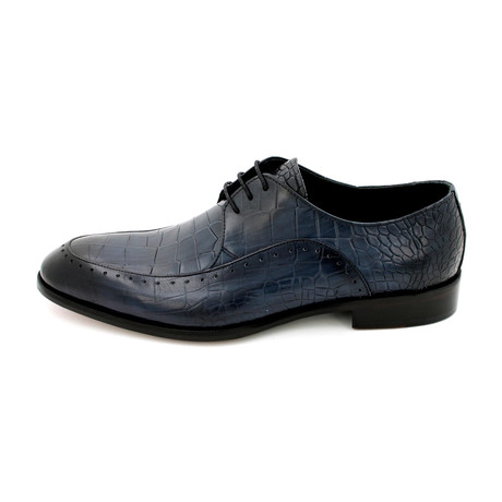 Croco Spiro Dress Shoes // Dark Blue (Euro: 39)