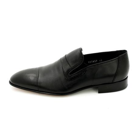 Cap Toe Dress Shoes // Black (Euro: 39)