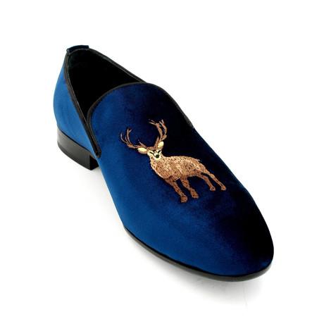 Velvet Loafers // Dark Blue (Euro: 39)