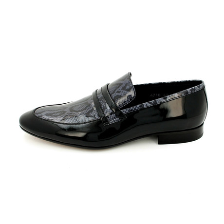 Snake Print Dress Shoes // Black (Euro: 39)