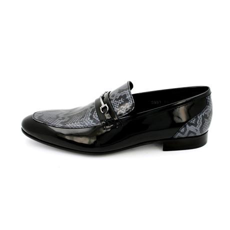 Snake Print Horse Bit Dress Shoes // Black (Euro: 39)