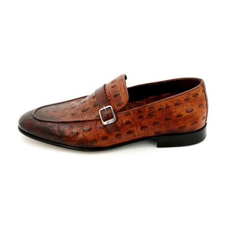 Ostrich Dress Shoes // Brown (Euro: 39)