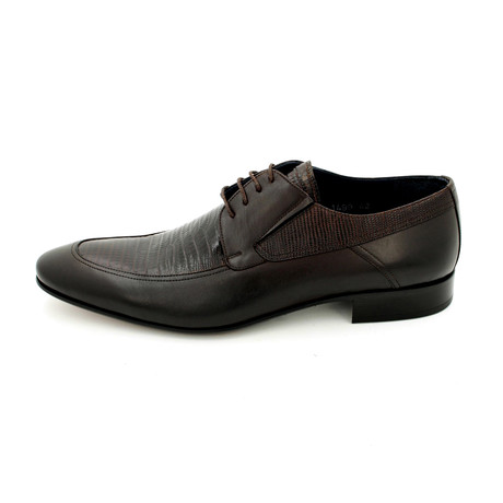 Textured Dress Shoes // Brown (Euro: 39)