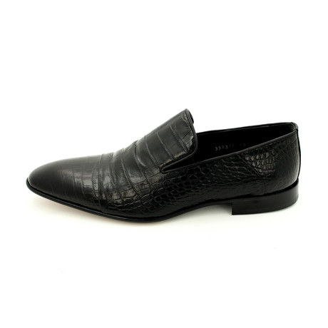 Croco Dress Shoes // Black (Euro: 39)