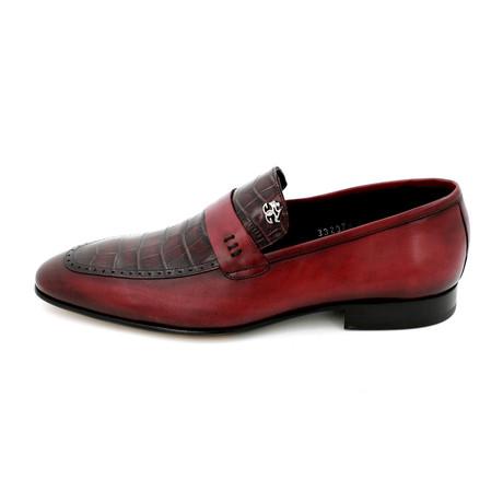Croco Dress Shoes // Bordeaux (Euro: 39)