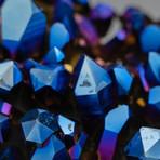 Genuine Cobalt Aura Quartz Cluster