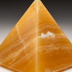 Polished Natural Orange Calcite Pyramid