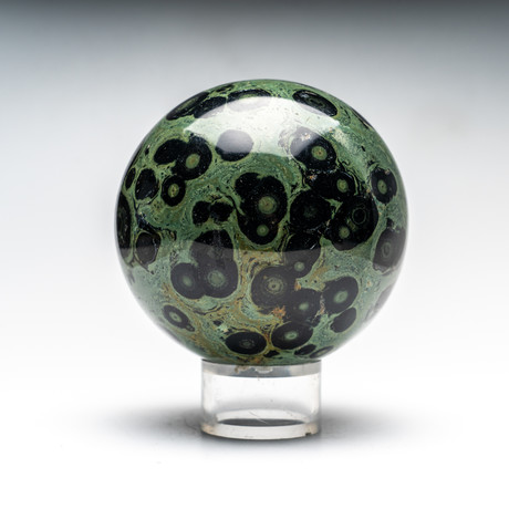 Polished Natural Kambaba Jasper Sphere + Acrylic Stand