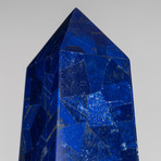 Large Genuine Lapis Lazuli Veneered Obelisk