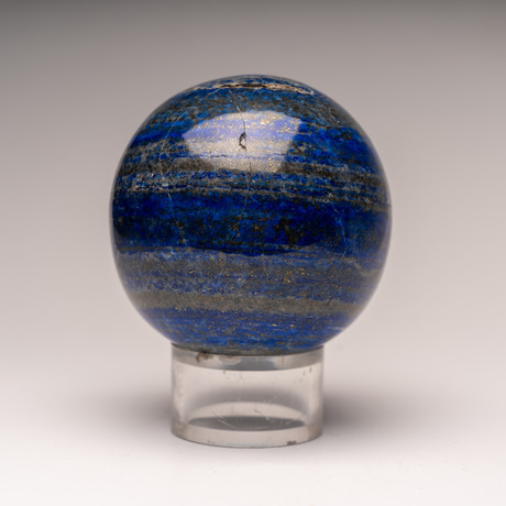 Natural Polished Lapis Lazuli Sphere + Acrylic Stand
