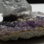 Natural Selenite Crystal on Amethyst Matrix