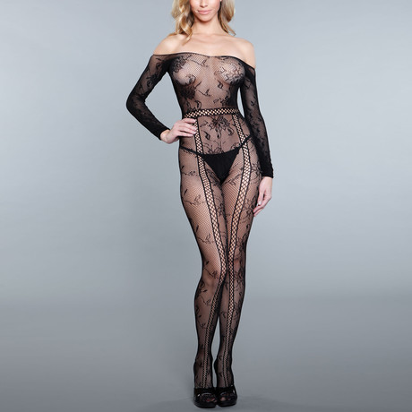 Silent Movies Bodystocking // Black (One Size)
