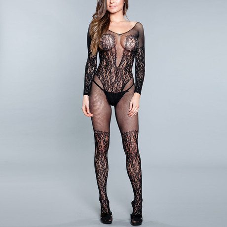 Luv Me Right Bodystocking // Black (One Size)