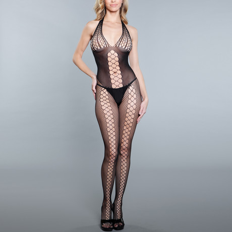I Like Me Better Bodystocking // Black (One Size)