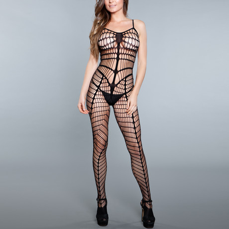 Learn Some New Moves Bodystocking // Black (One Size)