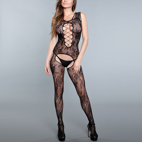 Reservations Bodystocking // Black (One Size)