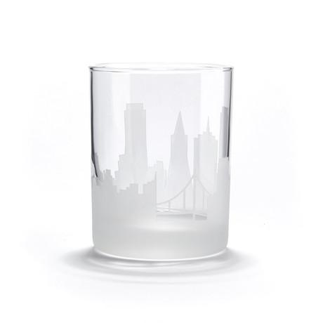 City Skyline Bar Glasses // Set of 4 // San Francisco