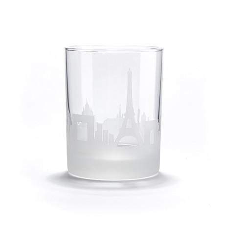 City Skyline Bar Glasses // Set of 4 // Paris