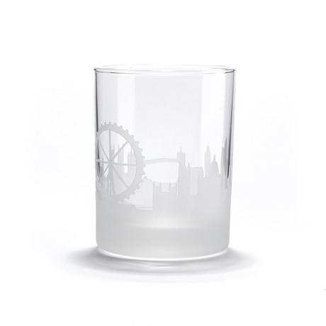 City Skyline Bar Glasses // Set of 4 // London