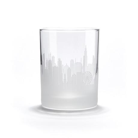 City Skyline Bar Glasses // Set of 4 // Chicago
