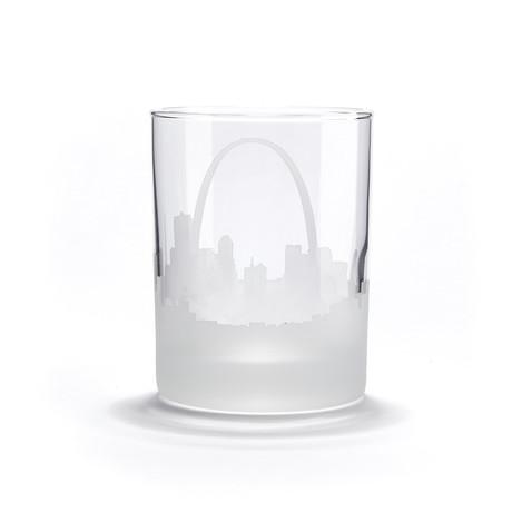 City Skyline Bar Glasses // Set of 4 // St. Louis