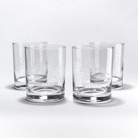 Metros Bar Glasses // Set of 4 // International Metros