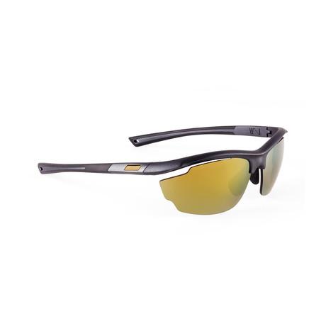 Men's VOLT 06 Sunglasses // Black + Gold
