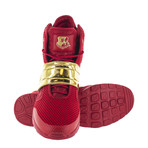 Atlas III High-Top Sneaker // Red + Gold (US: 10)
