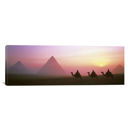 "Giza Pyramids Egypt // Panoramic Images (36""W x 12""H x 0.75""D)"