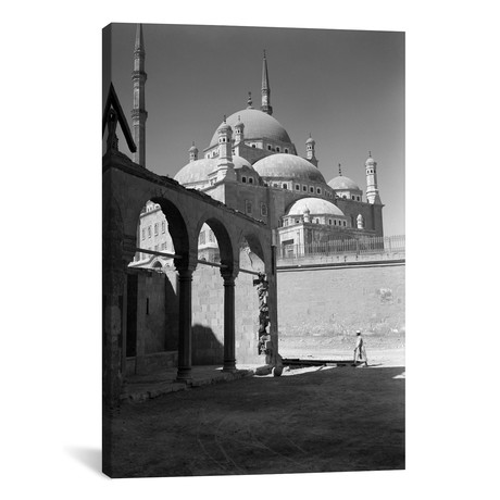 "1920s-1930s Cairo Egypt Architectural View Of The Muhammad Ali Alabaster Mosque In The Citadel Built In 1840s // Vintage Images (12""W x 18""H x 0.75""D)"