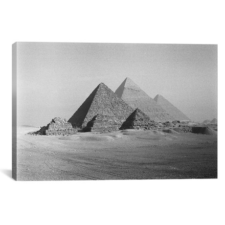 "The Great Pyramids, Giza Pyramid Complex, Giza Plateau, Giza, Egypt // Walter Bibikow (18""W x 12""H x 0.75""D)"
