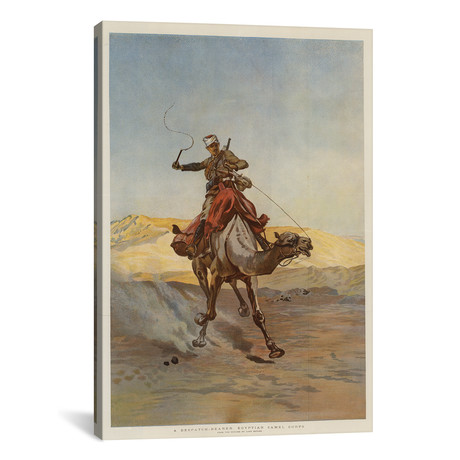 "A Despatch-Bearer Egyptian Camel Corps // Lady Butler (12""W x 18""H x 0.75""D)"