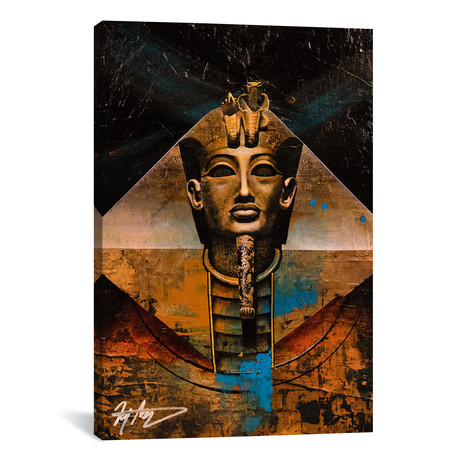 "The Golden Pharaoh // Michael Goldzweig (12""W x 18""H x 0.75""D)"