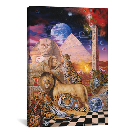 "Pharaoh's Pride // Graeme Stevenson (12""W x 18""H x 0.75""D)"
