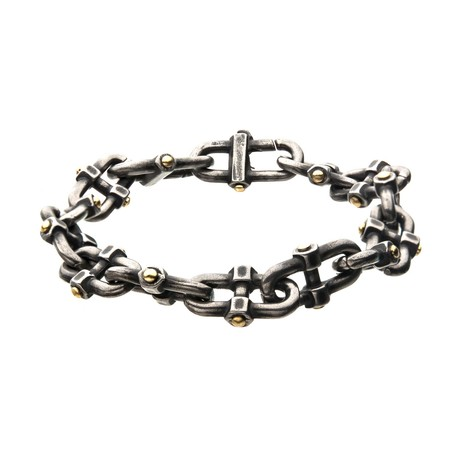 Stainless Steel Antique Distressed Mariner Chain Bracelet I