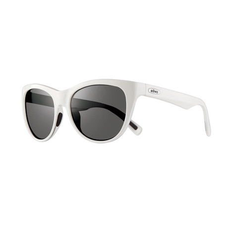 Barclay Polarized Sunglasses // White Frame // Graphite Lens