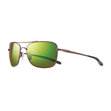 Territory Polarized Sunglasses // Brown Frame // Green Water Lens