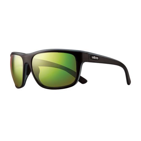Remus Polarized Sunglasses // Matte Black + Green