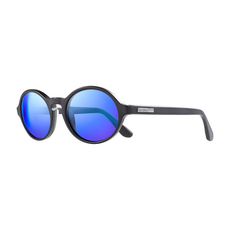 Bailer Polarized Sunglasses // Matte Black Frame + Blue Lens