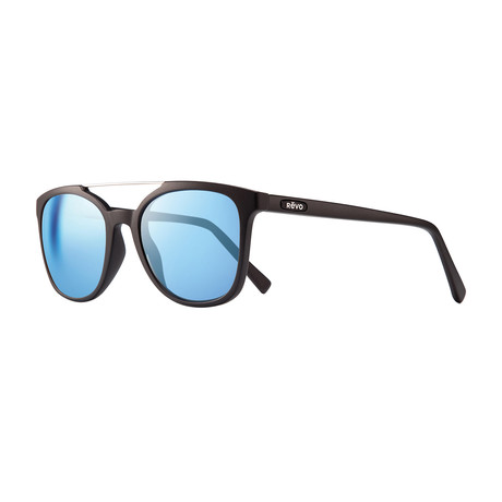 Clayton S Polarized Sunglasses // Black Frame // Blue Water Lens