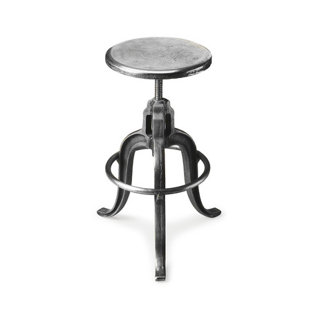 Durbin Adjustable Swivel Iron Bar Stool