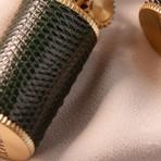 Lizard Leather Wrapped Kerosene Lighter // Narrow (Black)