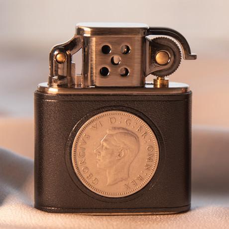 Hand Forged Coin Kerosene Lighter (Saddlebrown)
