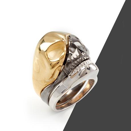 3 Pieces Skulls // Bronze + Black + Silver (10)
