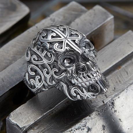 Big Skull Ring V2 // Silver (10)