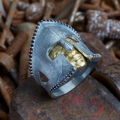 Gladiator Ring V2 // Silver + Gold (10)