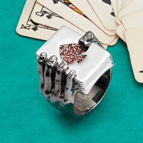 Ace Ring // Black + Silver (10)