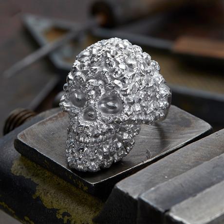 Big Skull Ring V1 // Silver (10)