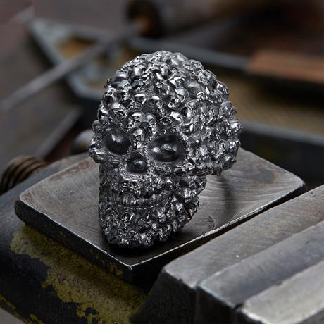 Big Skull Ring // Black (10)